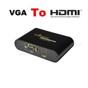 PC VGA Video Audio to TV HDTV HDMI Adapter Converter