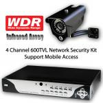 4Ch 600TVL Full-D1 1TB HDD Security System Kit