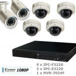 12 Channel 1080P Network Security System with 24CH NVR