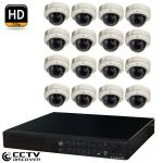 CCTV 16ch NVR 16x 720P 1.3M IR Dome Camera kit 2TB HDD PoE Switc