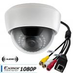 1080P IP Network IR Dome Camera Built-in Microphone and PoE