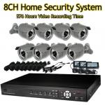 8Ch 420TVL 1TB Home Security System Kit with 8 pcs Sony CCD Came