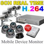 8Ch Professional Surveillance System with 1TB HDD