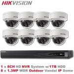 HIKVISION 8CH 1.3MP IP Camera PoE NVR System