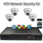 4CH Net DVR & 4x 600TVL D/N Camera Security Kit Mobile Support